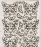 Micro-Glittersticker-0124Gtrg-Schmetterlinge-transparent/gold