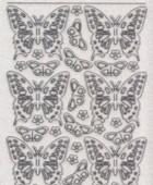 Micro-Glittersticker-0124Gtrs-Schmetterlinge-transparent/silber
