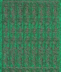 Micro-Glittersticker-0332ggrg-Happy Birthday-längs-grün/gold
