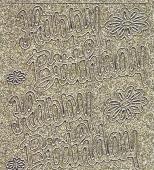 Micro-Glittersticker-0382ggs-Happy Birthday-gold/silber