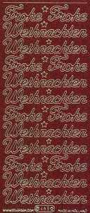 Micro-Glittersticker-0463grg-Frohe Weihnachten-rot-gold