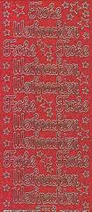 Micro-Glittersticker-0466grg-Frohe Weihnachten-rot-gold