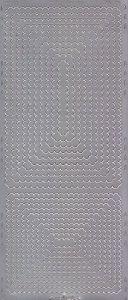 Zier-Sticker-Bogen-0563s -Rahmen/Ränder-Rechtecke-silber