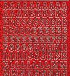 Zier-Sticker-Bogen-0814hor-Alphabet-ABC-holo-rot-gold