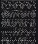 Zier-Sticker-Bogen-0814schw-Alphabet-ABC