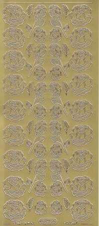 Zier-Sticker-Bogen-0823g-Rosen-gold