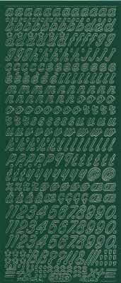 Zier-Sticker-Bogen-0825dgr-Alphabet-abc-Schreibschrift 2