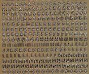 Zier-Sticker-Bogen-1000g-Alphabet-ABC-Zahlen-mini-gold