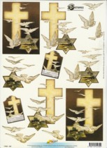 3D Etappen-Bogen-11055-230-Trauer/Kondolenz-Kreuz