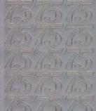 Zier-Sticker-Bogen-1236s-Jubiläums-Zahlen 75-silber