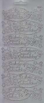 Zier-Sticker-Bogen-1547s-Einladung zum Geburtstag-silber