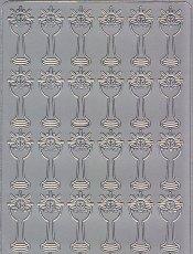 Zier-Sticker-Bogen-1871s-Christliches Motiv-Kelche