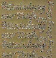 Zier-Sticker-Bogen-2227g-Einladung zur Taufe-gold