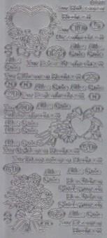 Zier-Sticker-Bogen-2267s-Hochzeitstage-z.B.Rosen-Perlen-Rubinhochzeit-silber