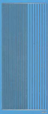 Zier-Sticker-Bogen-2400lfhblg-Lackfolie-glatte Ränder-hellblau / gold