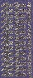 Micro-Glittersticker-2428gflg-Alles Gute-flieder/gold