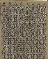 Zier-Sticker-Bogen-2486g-Ränder-gold