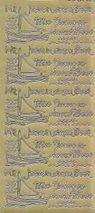 Zier-Sticker-Bogen-2805g-Kommunion-Konfirmation-Taufe-Boote-Mit Jesus in einem Boot