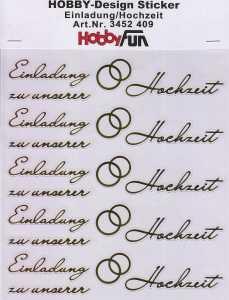 Hobby Design Sticker - HobbyFun 409- Einladung zu unserer Hochzeit