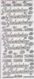 Micro-Glittersticker-4400gtrs-Zum Geburtstag-transparent/silber