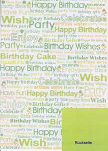 Artoz - Motive/Designkarton-beidseitig bedruckt- 66-Happy Birthday-ca.190g/m²
