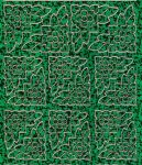 Zier-Sticker-Bogen-7003hogr-Blumenecken-holo-grün/gold