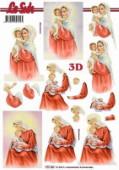3D Etappen-Bogen-777163-kirchliches-Motiv-Maria mit Kind