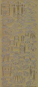 Zier-Sticker-Bogen-8524g-Speisen und Getränke-gold
