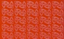 Zier-Sticker-Bogen-0975r-190 kleine Ecken -rot