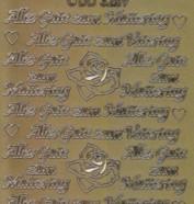 Zier-Sticker-Bogen-3259g-Alles Gute zum Muttertag / Vatertag-gold