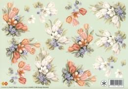 3D Etappen-Bogen-HJ 3902-Blumengestecke -gespiegelte Motive