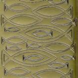 Zier-Sticker-Bogen-1399g-Christiliche Motive-Fische-gold