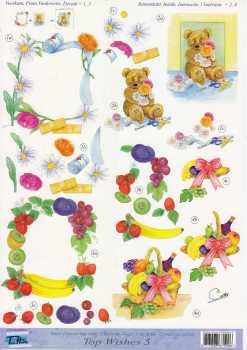 3D Etappen-Bogen-Top Wishes 5-Gute Besserung-Obstkorb