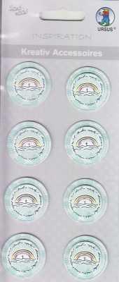 Ursus-3D Kreativ Accessoires-KA280-Kommunion / Konfirmation / Taufe-,,Spirit'' Regenbogen