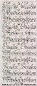 Micro-Glittersticker-0463gtrs-Frohe Weihnachten-transparent-silber