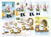 3D Etappen-Bogen-Koch und Bäcker -Card Deco- CD 10001