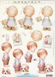 3D Etappen-Bogen-Morehead 040 -Mädchen mit Katze