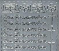 Zier-Sticker-Bogen-0267s-Zur Kommunion-silber