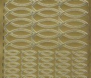 Zier-Sticker-Bogen-0322g-Christliches Motiv-Fische-gold