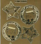 Zier-Sticker-Bogen-Weihnachtsmotive-Schneemann-gold-W-MD7042g