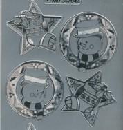 Zier-Sticker-Bogen-Weihnachtsmotive-Schneemann-silber-W-MD7042s