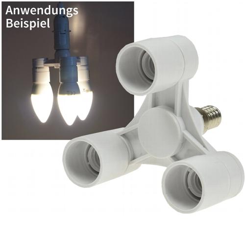 Lampensockel Adapter Verteiler E14 Auf 3x E14 Adapter Fur Lampen Fassung
